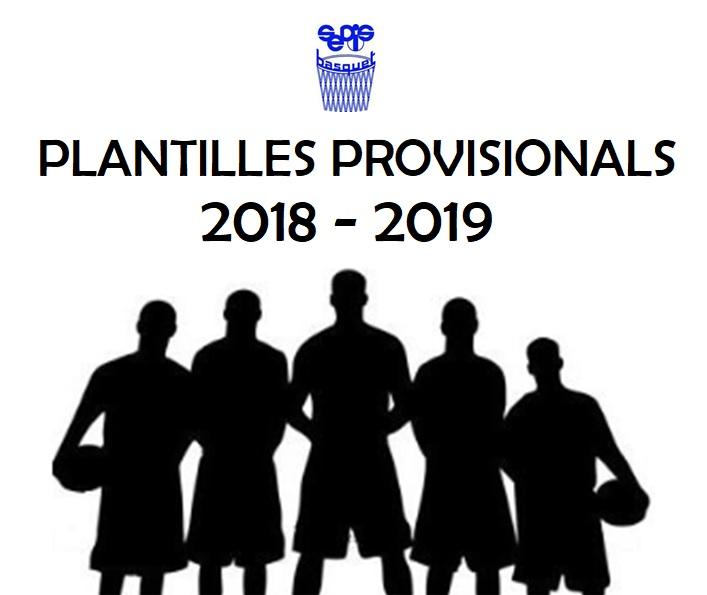 Plantilles provisionals
